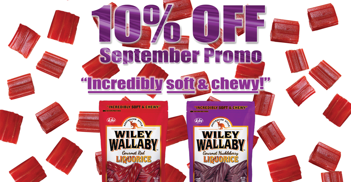 10% Off Wiley Wallaby Liquorice