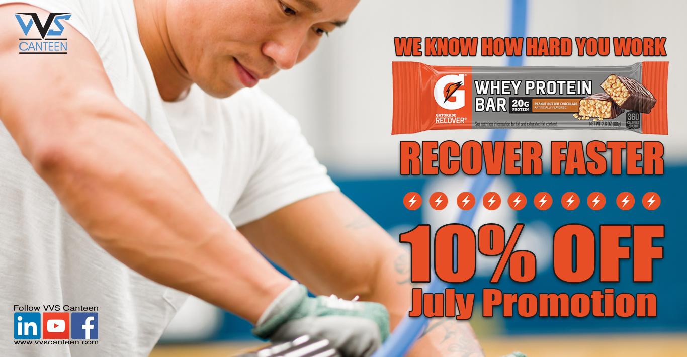 Micro Market Gatorade Protein Bar Promo