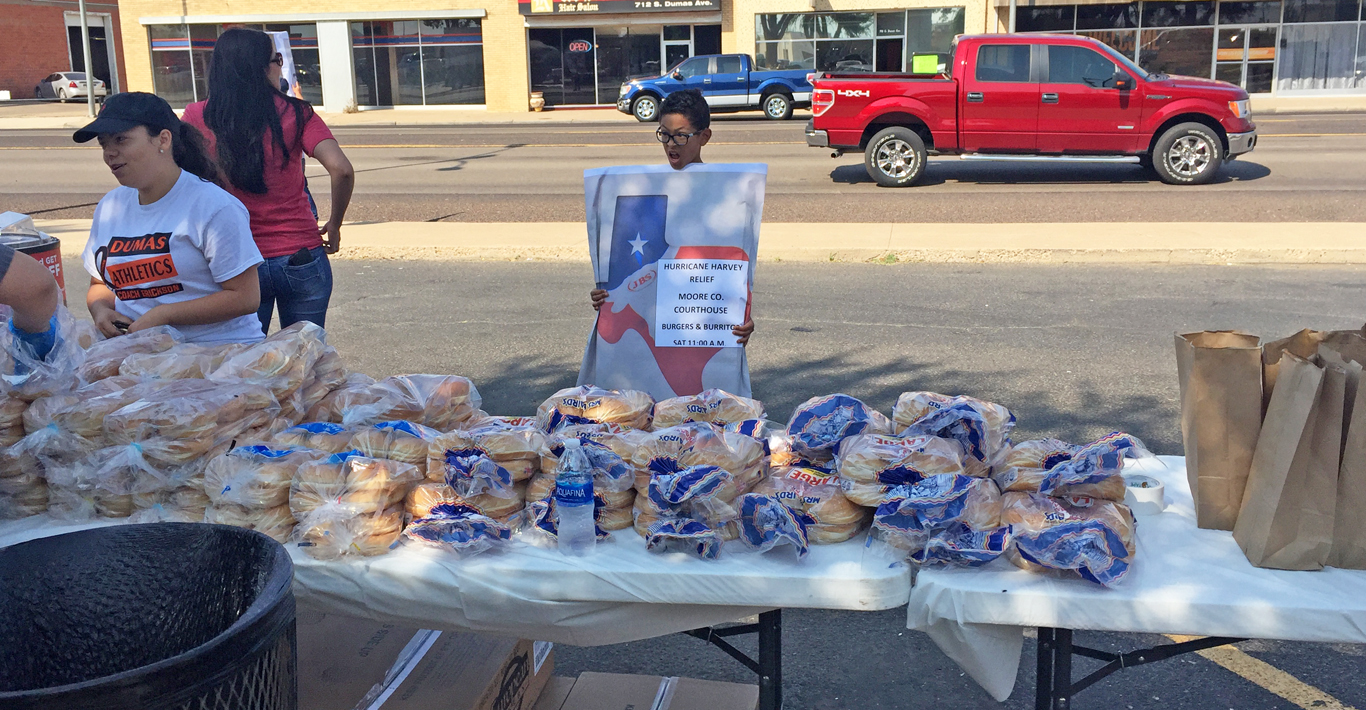 Hamburgers For Harvey's Heroes