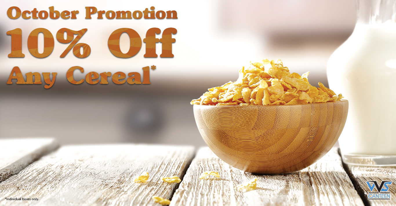 Micro Market Promo – 10% Off Cereal