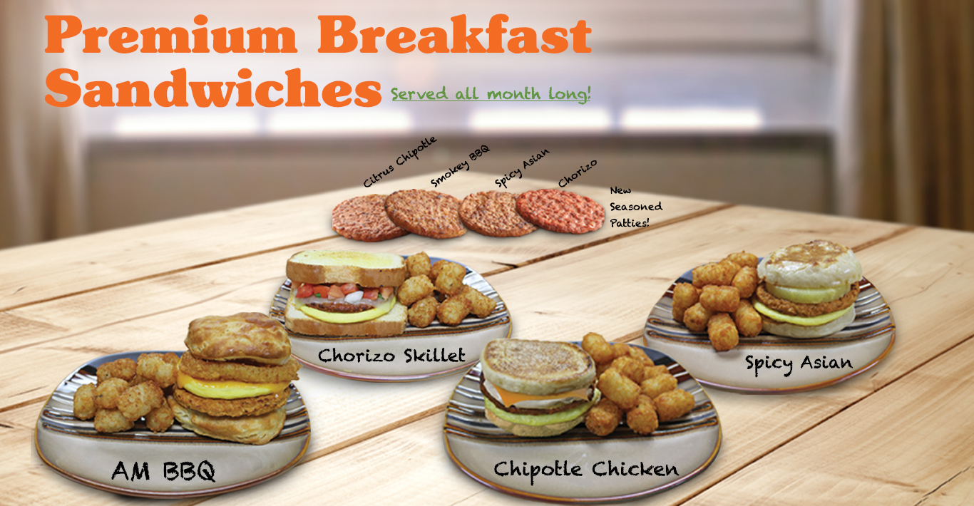 New Premium Breakfast Sandwiches
