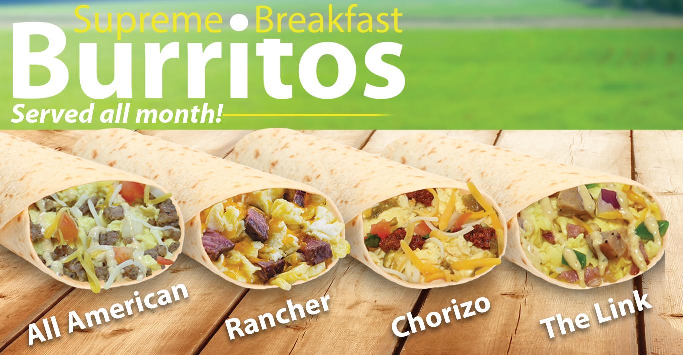 Supreme Breakfast Burritos